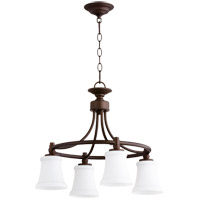 Quorum 6422-4-86 Rossington 4 Light 21 inch Oiled Bronze Chandelier Ceiling Light