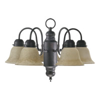 Signature 5 Light 20 inch Toasted Sienna Chandelier Ceiling Light