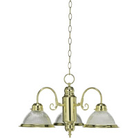 Quorum International Signature 3 Light Chandelier in Polished Brass 6427-3-2