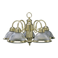 Signature 5 Light 24 inch Polished Brass Chandelier Ceiling Light