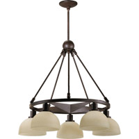 Lone Star 5 Light 26 inch Toasted Sienna Dinette Chandelier Ceiling Light