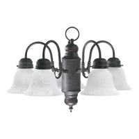 Quorum International Signature 5 Light Chandelier in Toasted Sienna 6429-5-44