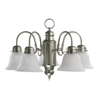 Quorum 6429-5-65 Signature 5 Light 20 inch Satin Nickel Chandelier Ceiling Light