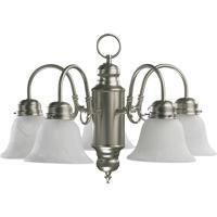 Quorum 6429-5-65 Signature 5 Light 20 inch Satin Nickel Chandelier Ceiling Light