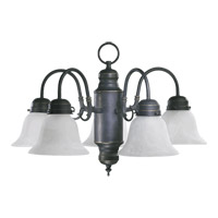 Quorum International Signature 5 Light Chandelier in Old World 6429-5-95