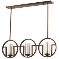 Quorum 643-3-86 Julian 3 Light 40 inch Oiled Bronze Island Light Ceiling Light