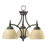 Quorum International Ashton 3 Light Dinette Chandelier in Toasted Sienna 6435-3-44