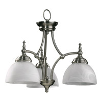 Quorum International Ashton 3 Light Dinette Chandelier in Satin Nickel 6435-3-65