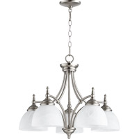 Quorum International Ashton 5 Light Dinette Chandelier in Satin Nickel 6435-5-65