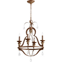 Quorum 644-4-39 Venice 4 Light 20 inch Vintage Copper Chandelier Ceiling Light