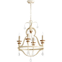 Quorum Venice 4 Light Chandelier in Persian White 644-4-70