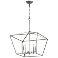 Quorum 644-5-64 Gabriel 5 Light 21 inch Classic Nickel Nook Ceiling Light, Quorum Home