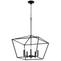 Quorum 644-5-69 Gabriel 5 Light 21 inch Noir Nook Ceiling Light, Quorum Home
