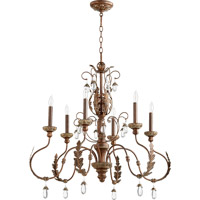 Quorum 6444-6-39 Venice 6 Light 32 inch Vintage Copper Chandelier Ceiling Light