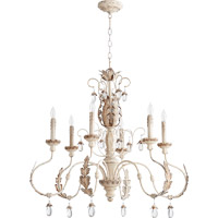 Quorum Venice 6 Light Chandelier in Persian White 6444-6-70
