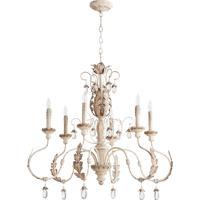 Quorum 6444-6-70 Venice 6 Light 32 inch Persian White Chandelier Ceiling Light