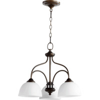 Quorum International Brooks 3 Light Dinette Chandelier in Oiled Bronze 6450-3-86