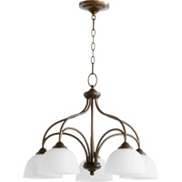 Quorum 6450-5-86 Brooks 5 Light 25 inch Oiled Bronze Dinette Chandelier Ceiling Light