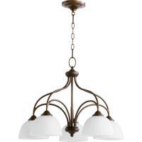 Quorum 6450-5-86 Brooks 5 Light 25 inch Oiled Bronze Dinette Chandelier Ceiling Light