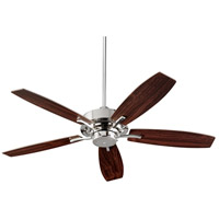Quorum 64525-62 Soho 52 inch Polished Nickel with Dark Teak Blades Indoor Ceiling Fan