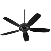 Quorum 64525-69 Soho 52 inch Noir with Matte Black and Weathered Oak Blades Ceiling Fan