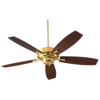 Soho 52 inch Aged Brass with Walnut/Weathered Oak Blades Indoor Ceiling Fan