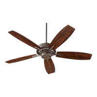 Quorum 64525-86 Soho 52 inch Oiled Bronze with Reversible Teak and Walnut Blades Ceiling Fan
