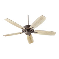 Soho 52 inch Oiled Bronze with Weathered Oak Blades Indoor Ceiling Fan