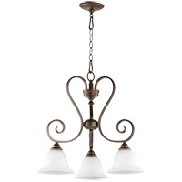 Quorum 6453-3-186 Celesta 21 inch Oiled Bronze Nook Ceiling Light in Satin Opal, Satin Opal