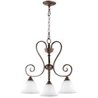 Quorum 6453-3-186 Celesta 21 inch Oiled Bronze Nook Ceiling Light in Satin Opal Satin Opal