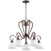 Quorum 6453-5-186 Celesta 28 inch Oiled Bronze Nook Ceiling Light in Satin Opal, Satin Opal