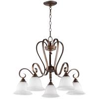 Quorum 6453-5-186 Celesta 28 inch Oiled Bronze Nook Ceiling Light in Satin Opal Satin Opal