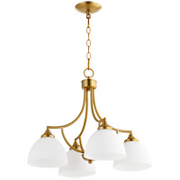 Quorum 6459-4-80 Enclave 4 Light 22 inch Aged Brass Mini Chandelier Ceiling Light