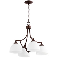 Quorum 6459-4-86 Enclave 4 Light 22 inch Oiled Bronze Chandelier Ceiling Light
