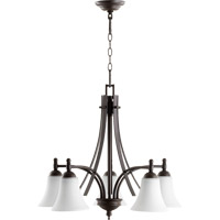 Quorum 6477-5-186 Aspen 5 Light 26 inch Oiled Bronze Nook Chandelier Ceiling Light