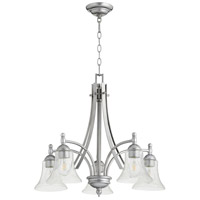 Quorum 6477-5-64 Aspen 5 Light 26 inch Classic Nickel Nook Ceiling Light