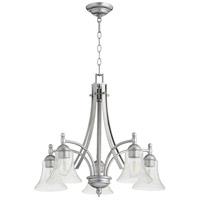 Quorum 6477-5-64 Aspen 5 Light 26 inch Classic Nickel Nook Ceiling Light