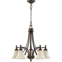 Quorum 6477-5-86 Aspen 5 Light 26 inch Oiled Bronze Dinette Chandelier Ceiling Light