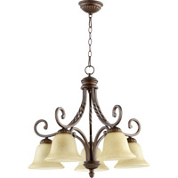 Tribeca II 5 Light 27 inch Oiled Bronze Dinette Chandelier Ceiling Light