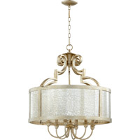 Quorum 6481-6-60 Champlain 6 Light 24 inch Aged Silver Leaf Dinette Chandelier Ceiling Light