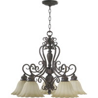 Coronado 5 Light 26 inch Gilded Bronze Dinette Chandelier Ceiling Light