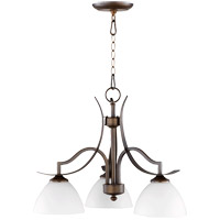 Quorum 6496-3-186 Atwood 24 inch Oiled Bronze Nook Ceiling Light Satin Opal