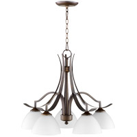 Quorum 6496-5-186 Atwood 26 inch Oiled Bronze Nook Ceiling Light Satin Opal
