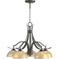 Quorum 6496-5-86 Atwood 5 Light 26 inch Oiled Bronze Dinette Chandelier Ceiling Light