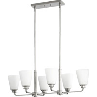 Quorum International Friedman 6 Light Island Light in Classic Nickel 6502-6-64