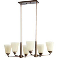Quorum International Friedman 6 Light Island Light in Oiled Bronze 6502-6-86