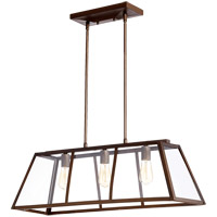 Quorum 6504-3-86 Kaufmann 3 Light 32 inch Oiled Bronze Island Light Ceiling Light