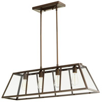 Quorum 6504-4-86 Kaufmann 4 Light 35 inch Oiled Bronze Island Light Ceiling Light