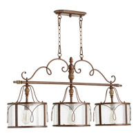 Quorum 6506-3-39 Salento 3 Light 42 inch Vintage Copper Island Light Ceiling Light