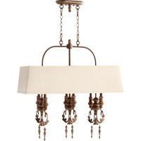 Quorum Salento 6 Light Island Light in Vintage Copper 6506-6-39
